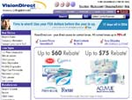 Vision Direct contact lenses online stores screenshot